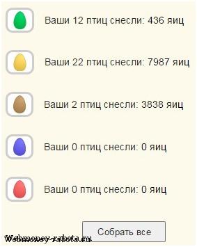 Заработок денег на яйцах и птичках
